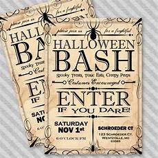 Word Halloween Templates Apothecary Style Halloween Party Invitation Template