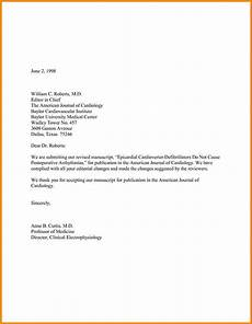 Cover Letter To Journal Editor 9 Cover Letter For Journal Manual Journal