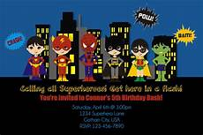 Superhero Invite Template Free Printable Superhero Birthday Invitations Free