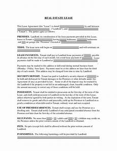 real estate lease real estate rental and lease template free download