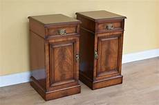 Bedside Cabinets Pair Of Mahogany Bedside Cabinets Antiques Atlas