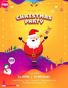 Christmas Poster Templates Free Christmas Party Poster Template Freedownloadpsd Com