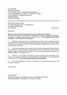 Letter For Sponsorship Application Letter For Sponsorship For Further Studies