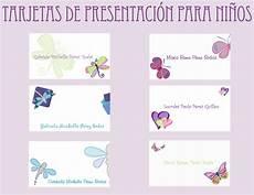 Plantillas Para Tarjetas De Presentacion Tarjetas De Presentaci 243 N Infantiles Andrea Blog