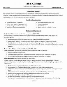 Example Management Resume Project Management Resume Samples 2016 Sample Resumes