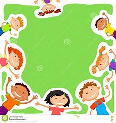 Children Playing Background Vector Background Blank With Kids Summer Camp Stock Vector