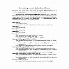 Commission Agreement Commission Agreement Templates Find Word Templates