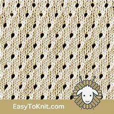 eyelet lace 26 staggered eyelet in 2020 knit stitch