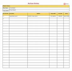 Action Item Template Excel Free Action Items Template For Excel Amp Pdf To Do List