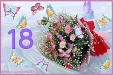fiori 18 anni biglietto di auguri 18 anni con fiori e farfalle