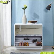 shoe wardobe with mirror and the inside cabinet with three