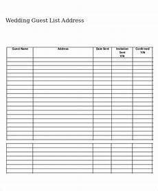 Free Wedding Guest List Template Wedding Guest List Template 9 Free Word Excel Pdf