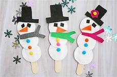 snowman puppet easy winter craft for darice