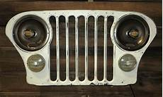 Jeep Grill With Lights White Antique Jeep Grill Wall Light Sconce Sold Aaw