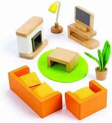 hape e3452 media room wooden dolls house accessories for