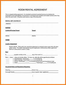Room Rental Agreement Month To Month Simple Month To Month Rental Agreement Room Rental