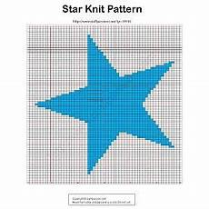 Graph Paper Star Star Pillow Knitting Charts Knitting Patterns Easy