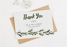 Wedding Thank You Card Examples 10 Wedding Thank You Card Examples You Ll Love