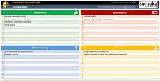 swot analysis excel template swot analysis template printable and free excel spreadsheet