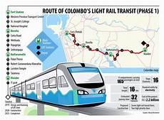 Colombo Light Rail Route Map Route Of Colombo S Light Rail Transit Phase 1 Light