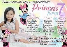 Sample 7th Birthday Invitation Creative And Unique Minnie Mouse For Seventh Birthday