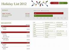 Holiday Budget Template Holiday Shopping Budget Template Excel