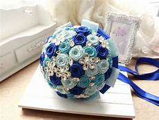 diy wedding brooch bouquet kit satin flowers rhinestone