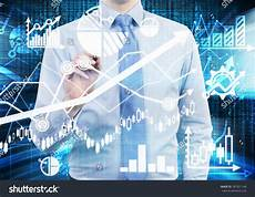 Idi Stock Chart Stock Photo Analyst Is Drawing A Financial Calculations