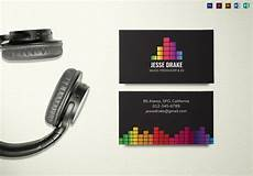 Dj Business Cards Music Producer And Dj Business Card Template In Psd Word