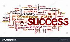 Word For Achievement Word Cloud Containing Words Related To Success