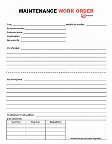 Work Order Format In Word Work Order 11 Free Work Order Form Format Template For