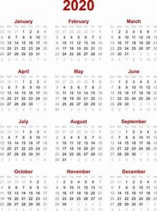 2020 Calendar With Clipart 2020 Calendar