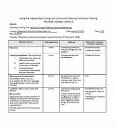 Training Agenda Template Word Training Agenda Template 8 Free Word Excel Pdf Format