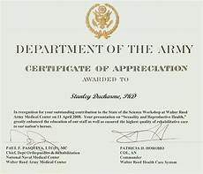 Army Certificates Of Training Therapy Rehabilitation Amp Disability And General
