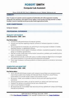 Sample Resume For Lab Assistant Computer Lab Assistant Resume Samples Qwikresume