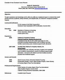 Newly Graduate Resume Sample Free 4 Sample Graduate Nurse Resume Templates In Ms Word