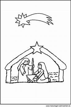 weihnachtskrippe gratis malvorlage zum ausmalen und