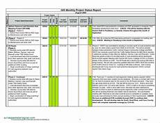 Monthly Status Report Template 036 Status Report Template Excel Ideas Project Management