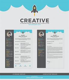 Creative Cv Resume Free Creative Cv Resume Design Template With Cover Letter