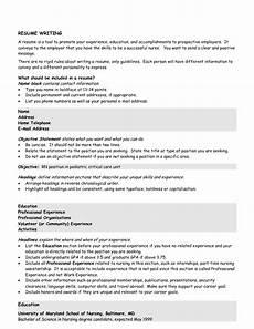 Cv Objectives Statement Resume 201207