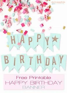 Printable Happy Birthday Banner Free Printable Happy Birthday Banner I Should Be Mopping