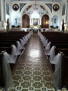 white and gold wedding church decor simple but elegant