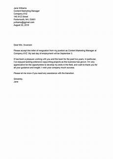 Resignation Letter Content How To Write A Professional Resignation Letter With
