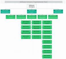 Software Development Organization Chart Software Company Organizational Chart Mydraw