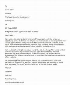 Letter Of Appreciation To Customer Free 44 Appreciation Letter Templates In Pdf