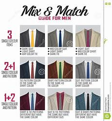 Suit Color Matching Chart Pattern Mix Match Guide For Suit Stock Vector