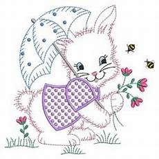 vintage baby bunny embroidery designs machine embroidery