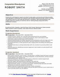 Carpentry Resume Sample Carpenter Resume Samples Qwikresume