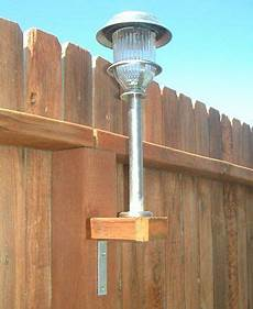 How To Attach Solar Lights To Brick Wall Attach Solar Lights To Your Fence Backyards Fence Posts