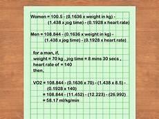 Vo2max Chart Running 3 Ways To Measure Vo2 Max Wikihow